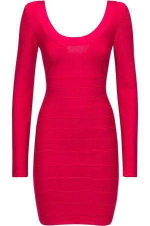 Hervé Léger Women Casual Dresses - Long Sleevestretch Jersey Mini Dress