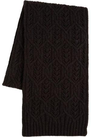 Loro Piana Women Scarves - Cashmere Knop Yarn Knit Scarf