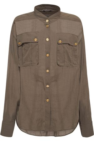 Balmain Cotton Shirt W/ Patch Pockets