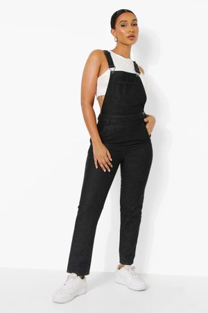 Boohoo Women Jeans - Womens Denim Long Length Dungarees - - 2