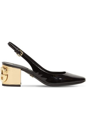 Dolce & Gabbana 60mm 90's Logo Patent Leather Pumps