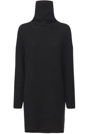ERMANNO SCERVINO Wool Blend Knit Turtleneck Dress