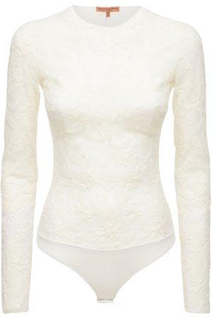 ERMANNO SCERVINO Lace Long Sleeve Bodysuit