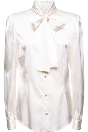 Dolce & Gabbana Women Shirts - Silk Twill Shirt W/bow