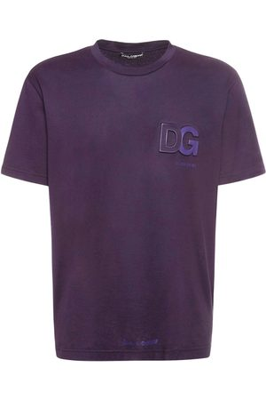 Dolce & Gabbana Men T-shirts - Logo Embossed Cotton Jersey T-shirt