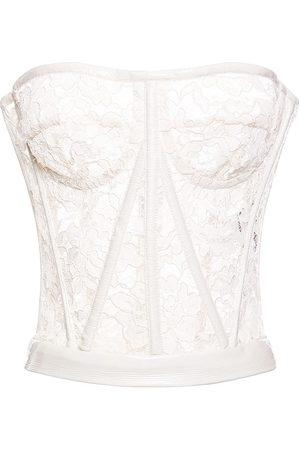 Dolce & Gabbana Crochet Lace Bustier Top