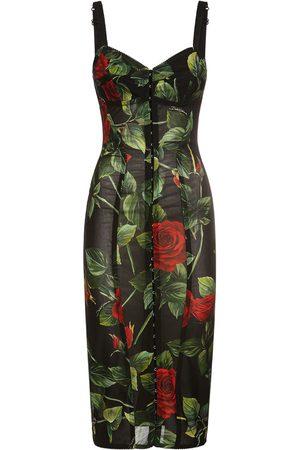 Dolce & Gabbana Women Printed Dresses - Printed Tulle Midi Dress