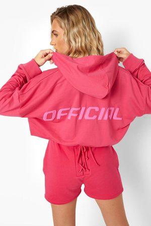 Boohoo Womens Official Tie Front Hoodie - - 4