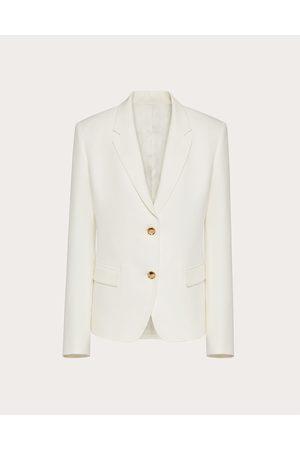 VALENTINO Cady Couture Blazer Women Ivory Silk 100% 36