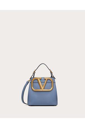 VALENTINO GARAVANI Supervee Calfskin Handbag Women Azure 100% Pelle Di Vitello - Bos Taurus OneSize