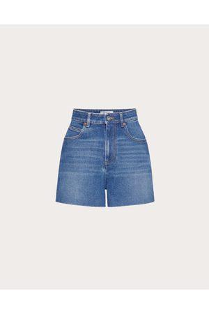 VALENTINO Women Shorts - Denim Shorts Women Navy 99% Cotton 1% Elastane 25