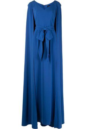 Marchesa Notte Crepe caftan dress