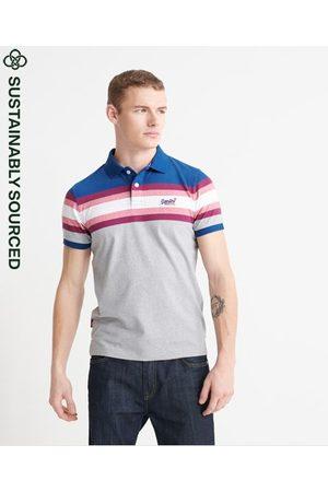 Superdry Men Polo Shirts - Organic Cotton Malibu Stripe Polo Shirt