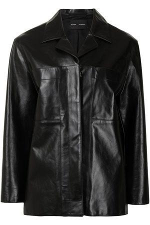Proenza Schouler Women Blazers - Single-breasted leather blazer