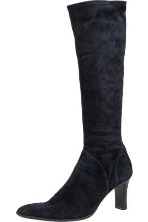 Sergio Rossi Suede Knee Length Boots Size 41