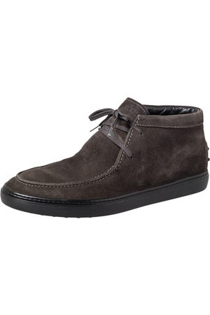 Tod's Suede Lace Up Boots Size 42.5