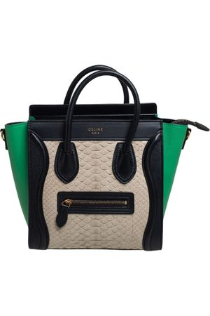 Céline Céline Tri Color Python and Leather Trim Nano Luggage Tote