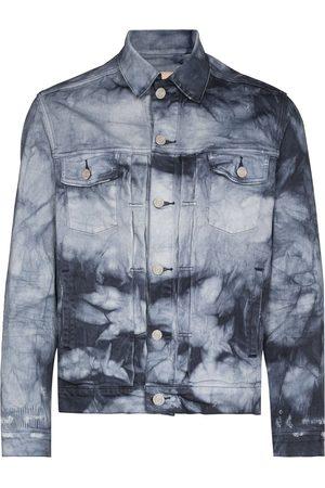 Purple Brand Men Denim Jackets - Granite tie-dye denim jacket