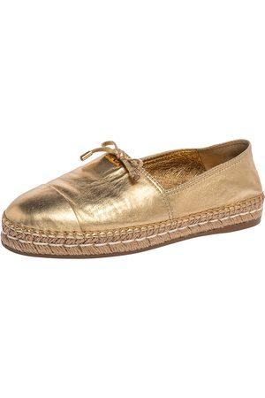 Prada Leather Espadrille Flats Size 39.5