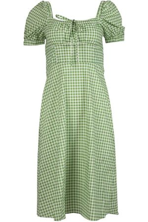 Harley Viera-Newton Holland Bow-tie Gingham Print Dress