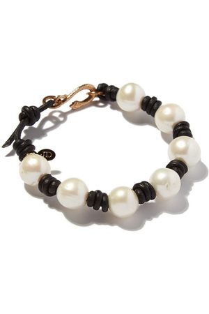 Joie DiGiovanni Knotted Pearl and Leather Snake Bracelet