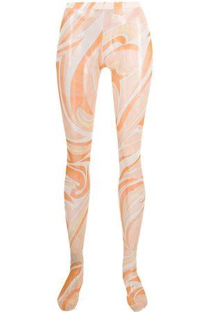Emilio Pucci Women Stockings - Vortici print tights
