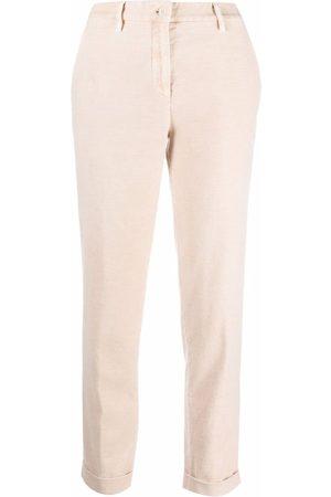 Aspesi Straight-leg cropped trousers - Neutrals