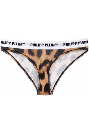 Philipp Plein Women Thongs - Leopard slip thong - Neutrals