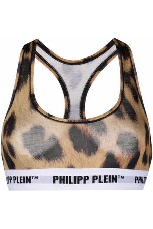 Philipp Plein Women Bras - Leopard print bra - Neutrals