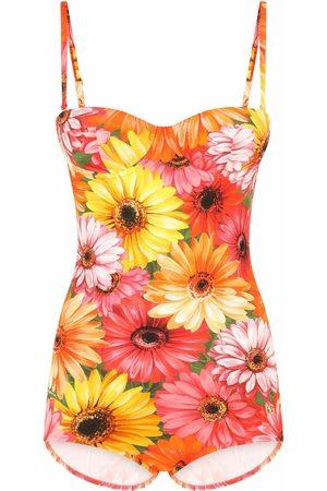 Dolce & Gabbana Women Swimsuits - Gerbera-daisy print swimsuit