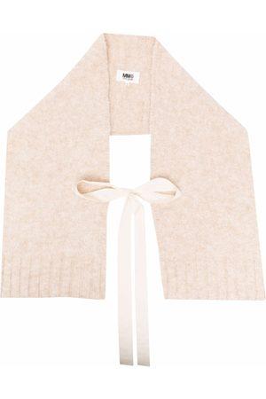 MM6 MAISON MARGIELA Women Scarves - Ribbon-tie scarf - Neutrals