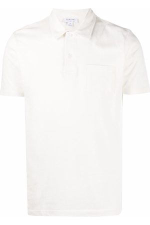 Sunspel Men Polo Shirts - Riviera patch-pocket polo shirt