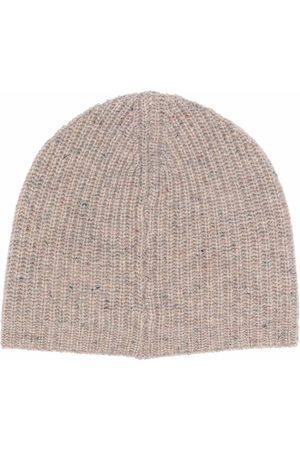 Pinko Women Beanies - Ribbed-knit beanie - Neutrals