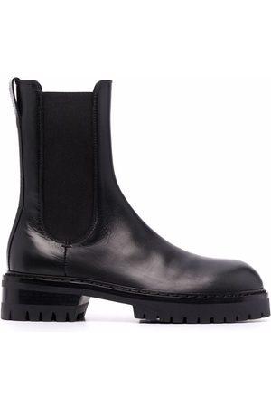 ANN DEMEULEMEESTER Ridged platform boots