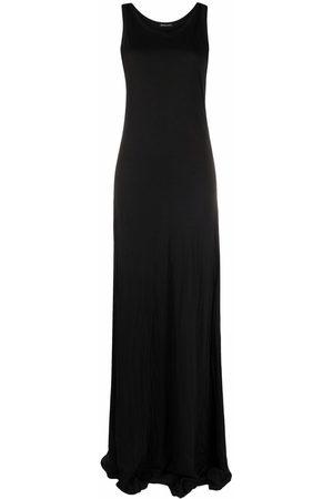 ANN DEMEULEMEESTER Women Maxi Dresses - Sleeveless cotton maxi dress