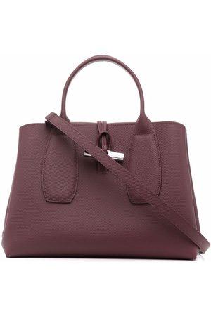 Longchamp Roseau leather top handle tote
