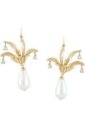 Oscar de la Renta Pineapple drop earrings