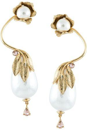 Oscar de la Renta Women Earrings - Climbing flower drop earrings