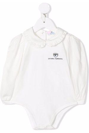 Chiara Ferragni Kids Rompers - Embroidered-logo cotton body