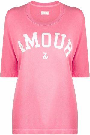 Zadig & Voltaire Slogan-print short-sleeved T-shirt