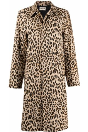 Zadig&Voltaire Women Trench Coats - Leopard-print single-breasted trench coat