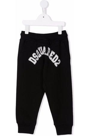 Dsquared2 Girls Pants - Logo-print cotton trousers