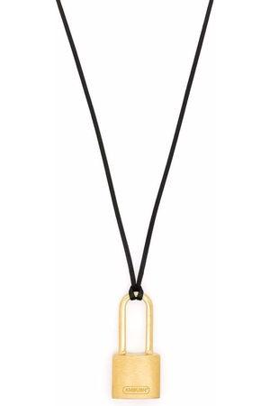 AMBUSH Necklaces - SMALL PADLOCK NECKLACE GOLD NO COLOR