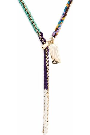 Missoni Interwoven tassel tag necklace