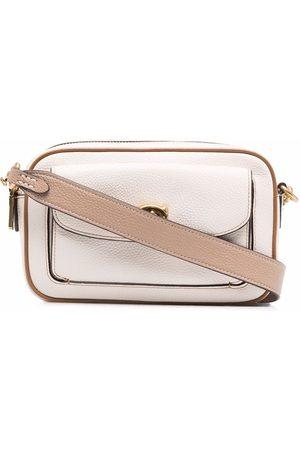 Coach Women Purses - Logo-plaque satchel bag - Neutrals
