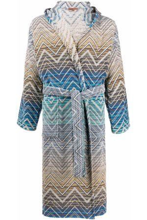 Missoni Home Stripe-print tie-fastening robe