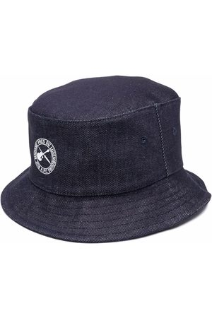 A.P.C. Logo-print denim bucket hat