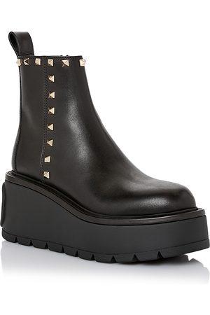 Valentino Garavani Women Heeled Boots - Women's Uniqueform Studded Platform Booties