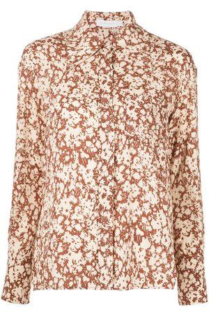 JONATHAN SIMKHAI Floral-print long-sleeved shirt