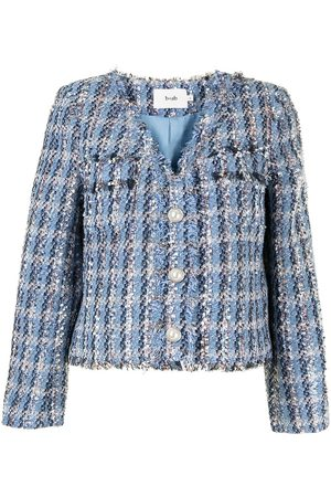 b+ab Button-up tweed jacket